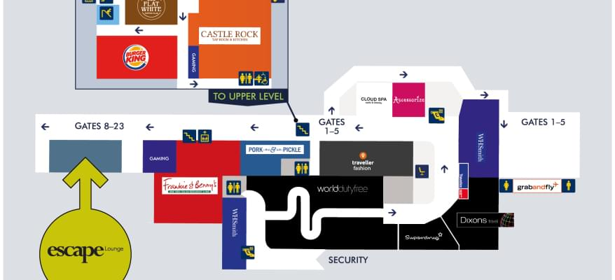 Escape Lounge East Midlands Airport map