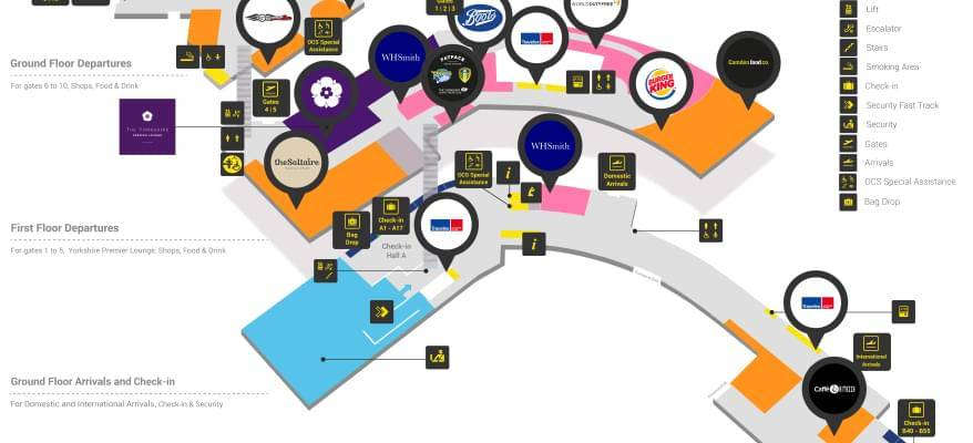 The Yorkshire Premier Lounge Leeds Bradford Airport Map
