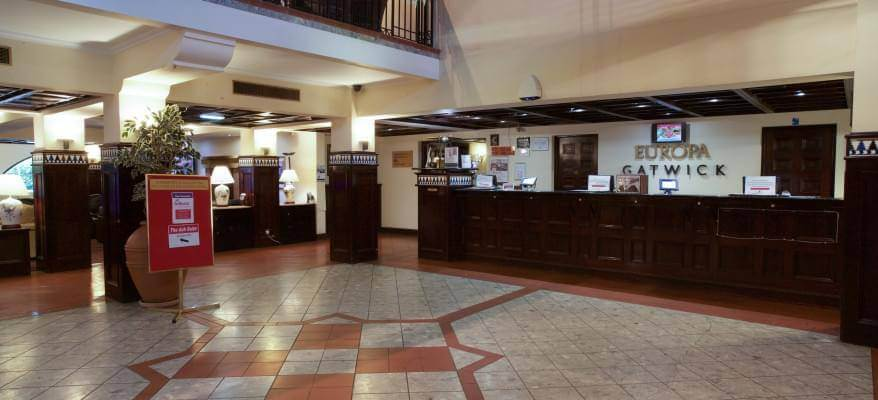 Europa Hotel With APH Parking Reception Area