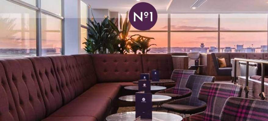No1 Lounge South Terminal Gatwick Airport with logo