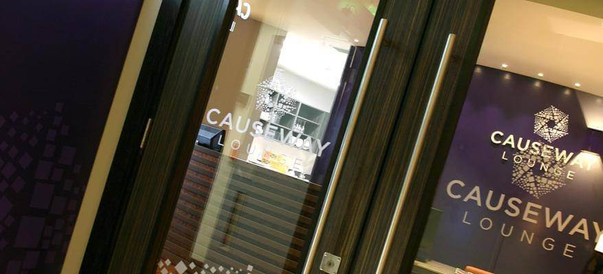 The Causeway Lounge Belfast International Airport Entrance1