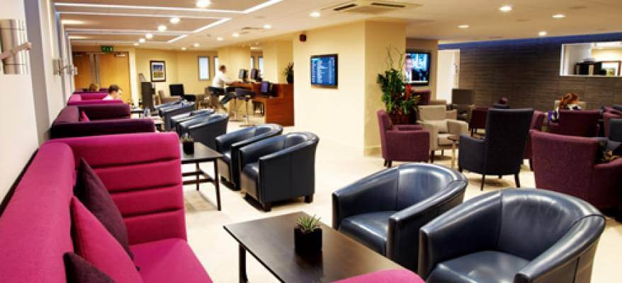 The Yorkshire Premier Lounge Leeds Bradford Airport seating