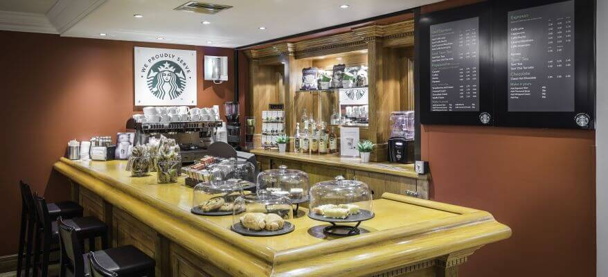 Holiday Inn Glasgow International Airport Starbucks Bar