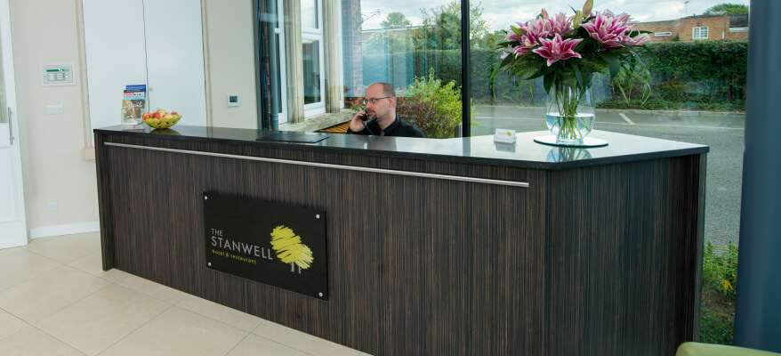 The Stanwell Heathrow Hotel Reception Stanwell