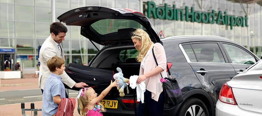 Doncaster Sheffield Airport Doncaster Airport Entrance Family Car