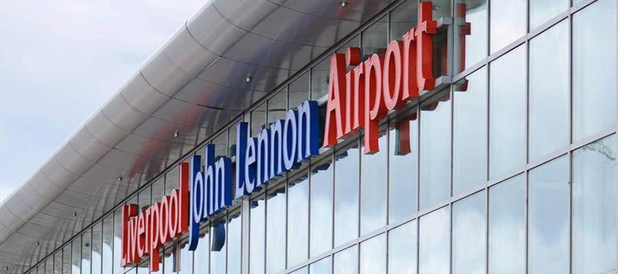 Liverpool John Lennon Airport Liverpool Airport Sign