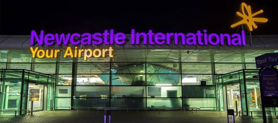 Newcastle Airport Newcastle Airport Outside NightShot