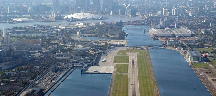 London City Airport London City Aerial Shot