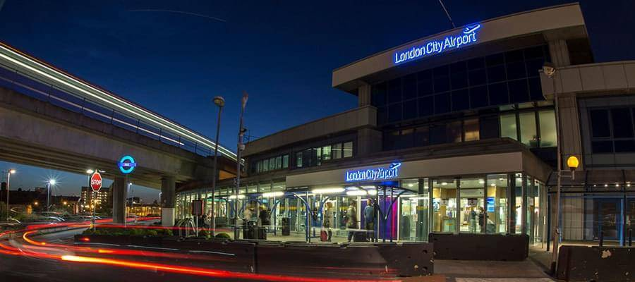 London City Airport London City Outside Night Shot