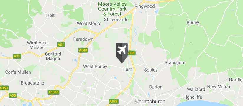 Bournemouth Airport map