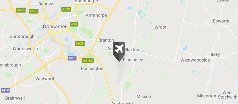 Doncaster Sheffield Airport map