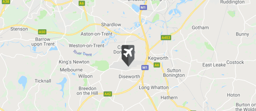 East Midlands Airport map