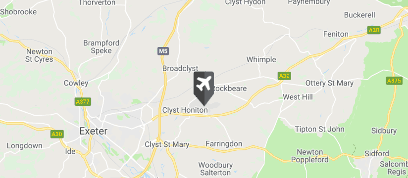 Exeter Airport map