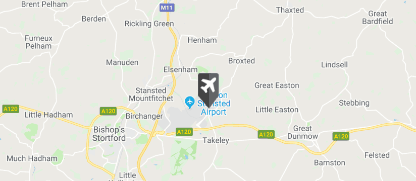 Stansted Airport map