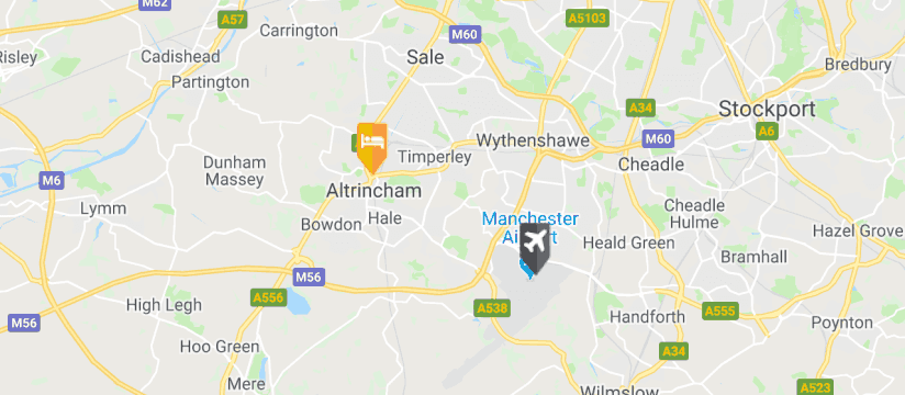 Best Western Cresta Court Hotel, Manchester Airport map