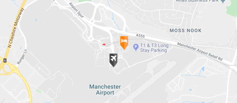 Crowne Plaza Hotel, Manchester Airport, Manchester Airport map