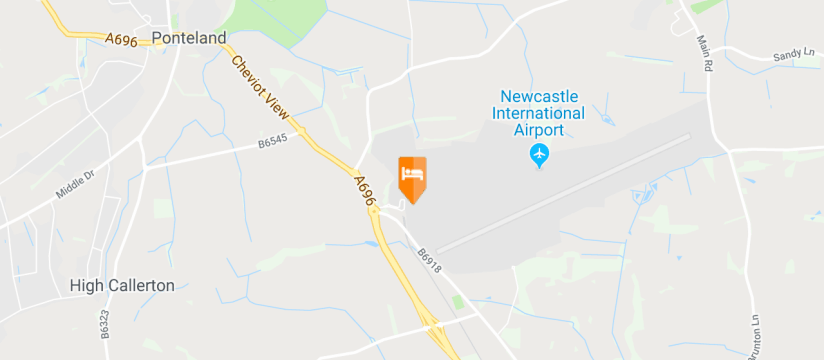 DoubleTree by Hilton Hotel Newcastle International Airport, Newcastle Airport map