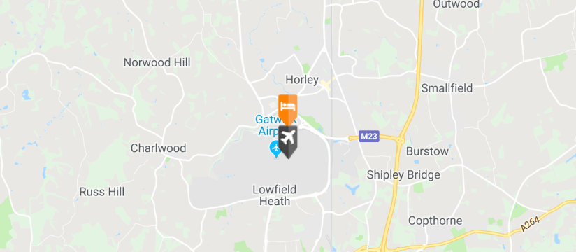 Hampton By Hilton London Gatwick Airport, Gatwick Airport map