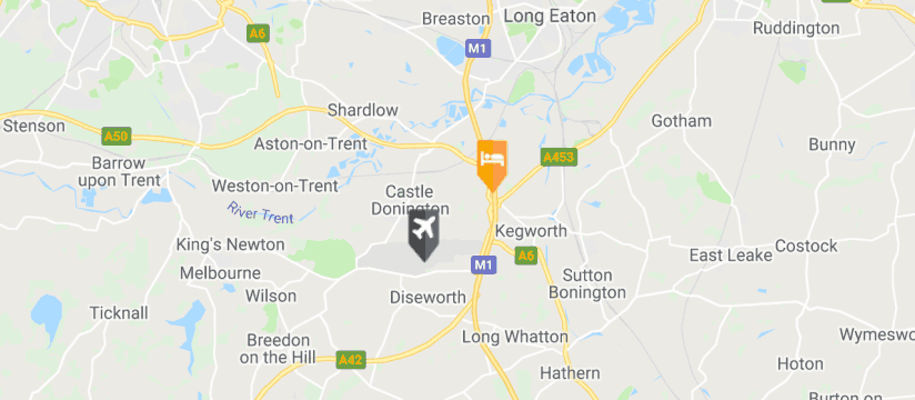 Hilton East Midlands Airport, East Midlands Airport map