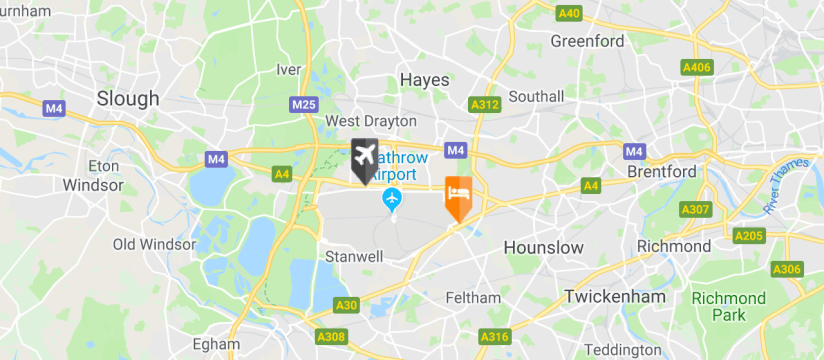 Hilton Garden Inn, Heathrow Airport map
