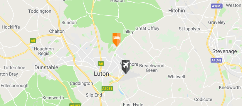 Hilton Garden Inn Luton North, Luton Airport map