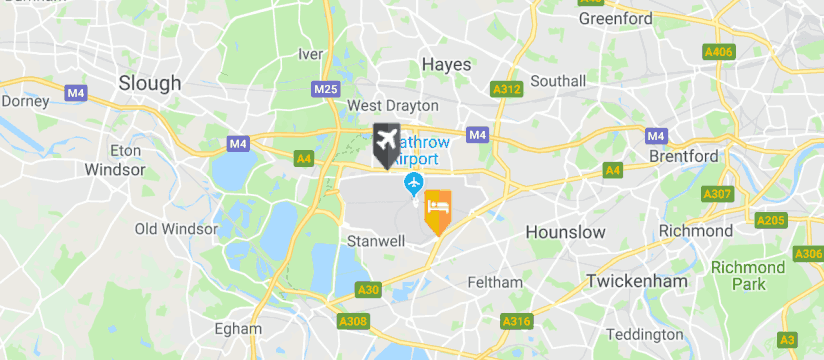 Hilton Hotel Heathrow Airport T4, Heathrow Airport map