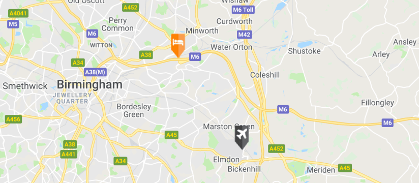 Holiday Inn Express Castle Bromwich, Birmingham Airport map