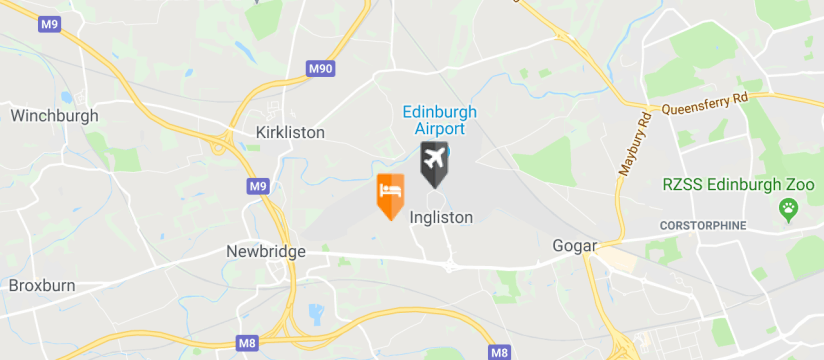 Holiday Inn Express, Edinburgh Airport map