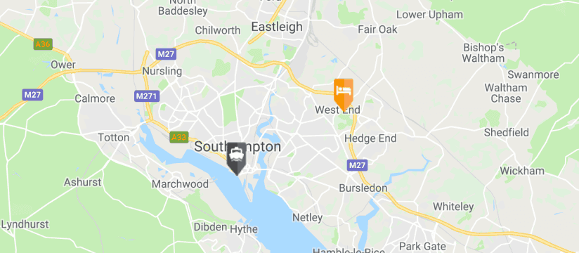 Holiday Inn Express, Southampton Port map