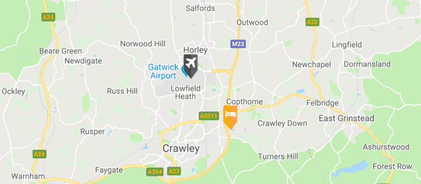 Holiday Inn Gatwick - Worth, Gatwick Airport map