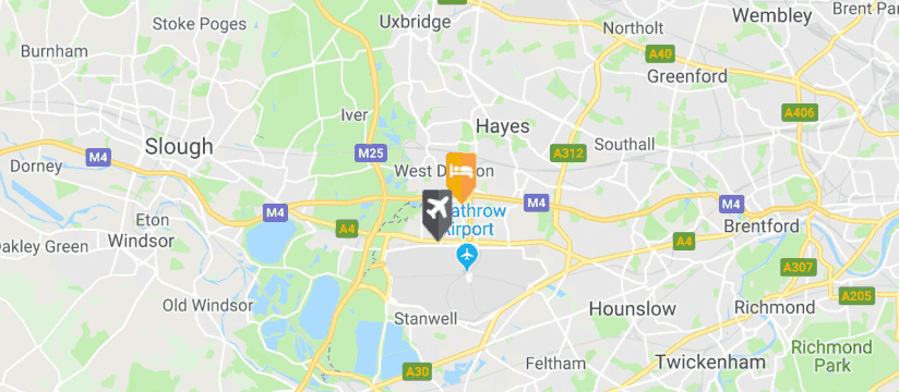 Holiday Inn M4J4, Heathrow Airport map