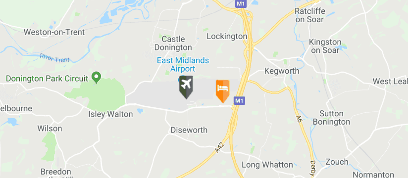 Radisson Blu, East Midlands Airport map