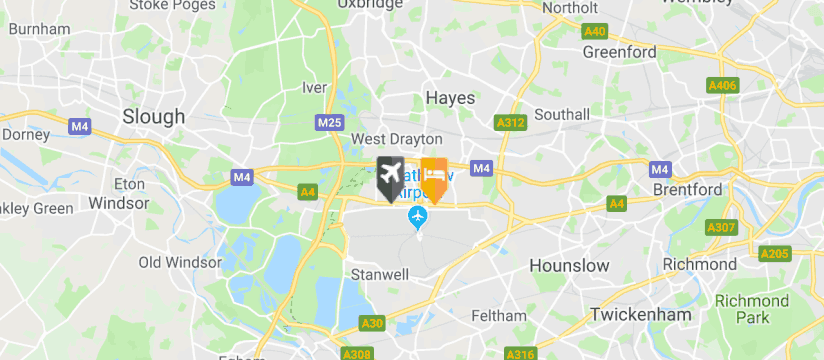 Renaissance Hotel Heathrow, Heathrow Airport map