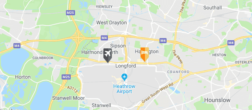 Sheraton Skyline Hotel Heathrow, Heathrow Airport map