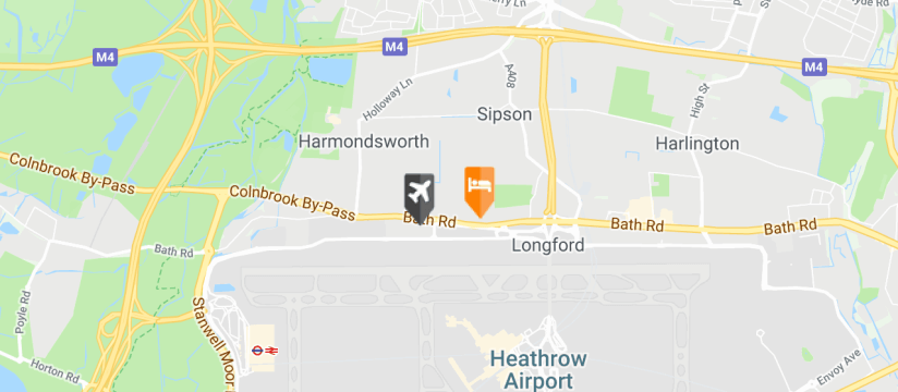 Staybridge Suites Heathrow Bath Road, Heathrow Airport map