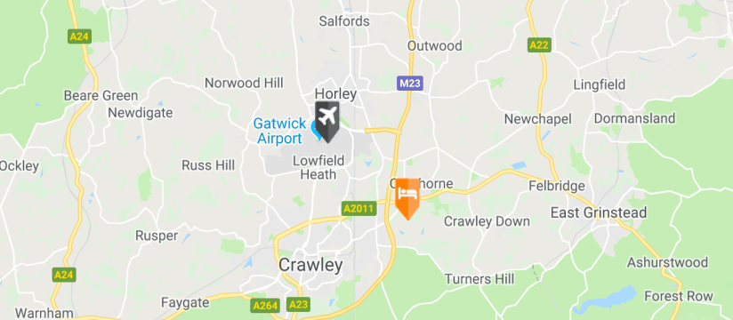 The Regency Hotel, Gatwick Airport map