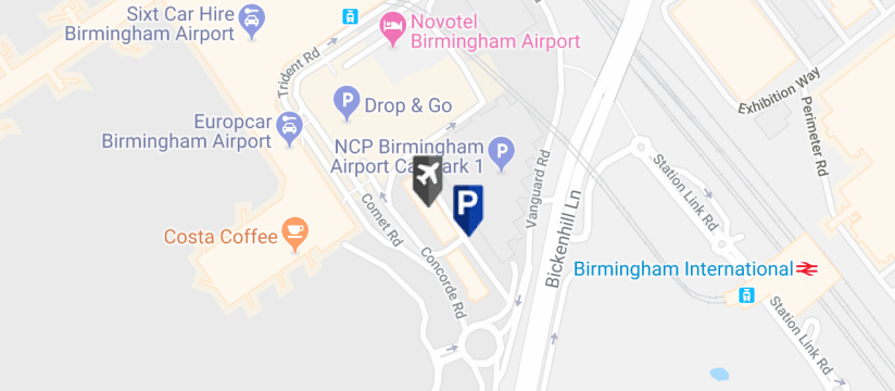 Ace Meet & Greet, Birmingham Airport map