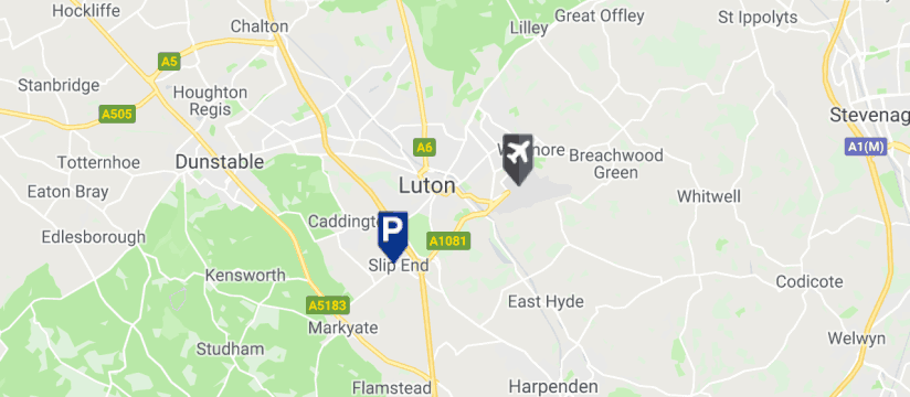 Airparks, Luton Airport map