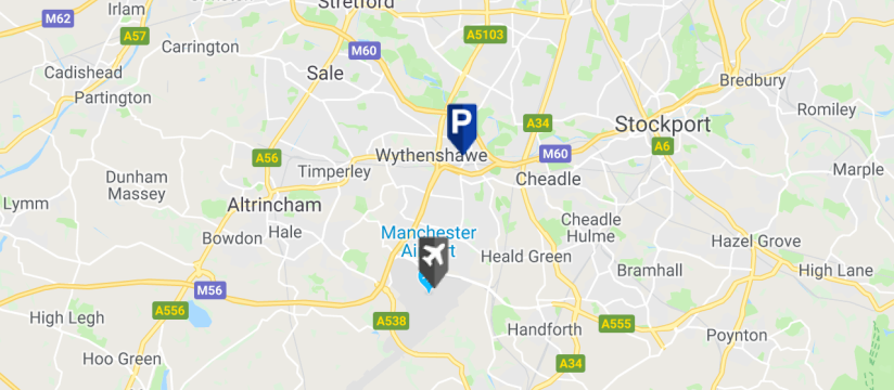 APH Car Park, Manchester Airport map