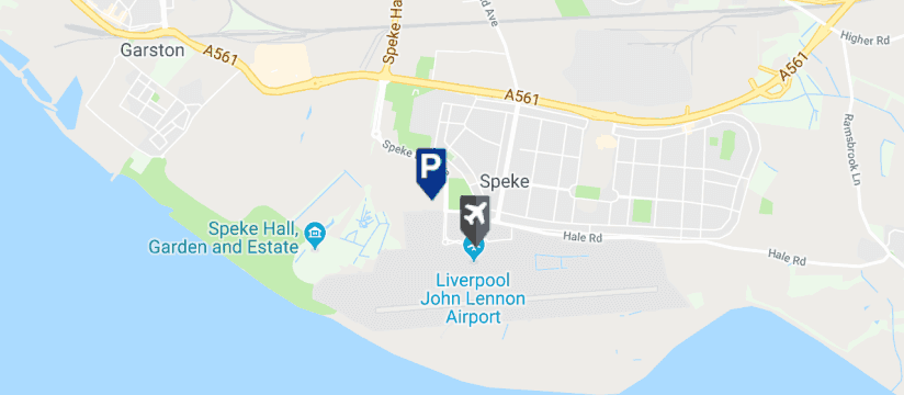 APL Parking, Liverpool John Lennon Airport map