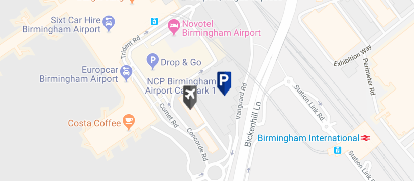 Birmingham Airport Car Park Map Birmingham Airport Car Park 1 Parking. Official Car Park 1