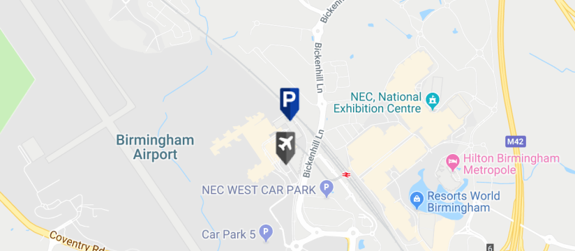 Birmingham Airport Car Park Map Birmingham Airport Car Park 2 & 3. NCP Short & Medium Stay Parking