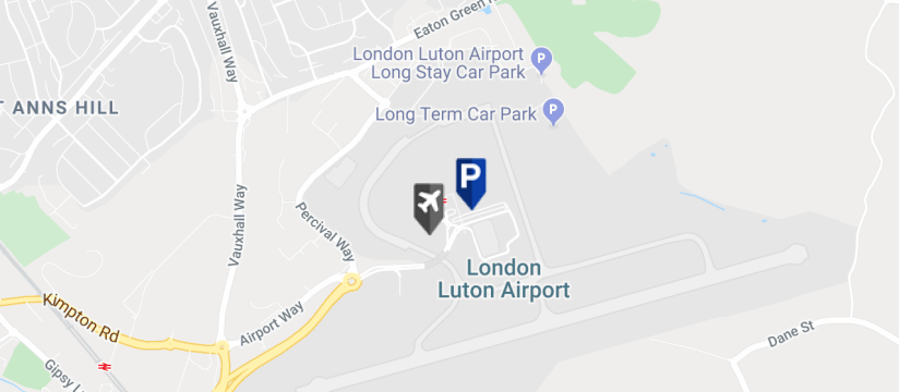 Blue Circle Meet & Greet Parking , Luton Airport map
