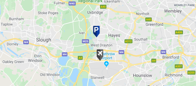 Blue Circle Park & Ride T5, Heathrow Airport map