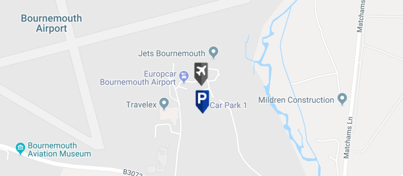 Bournemouth Airport Car Park 2, Bournemouth Airport map
