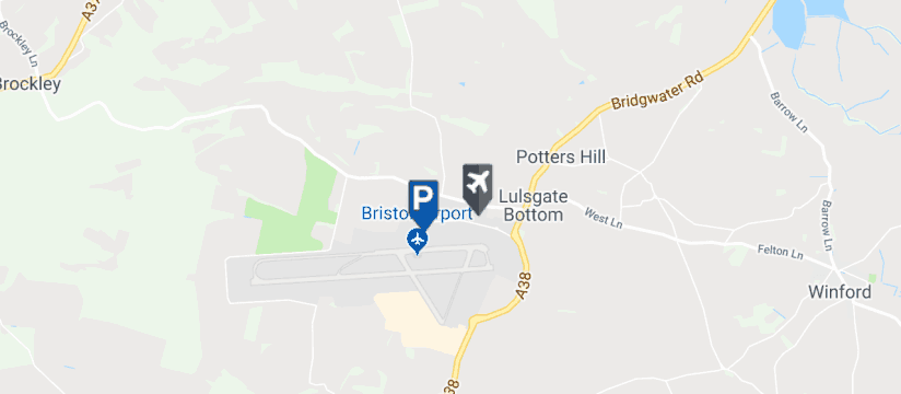 Bristol Airport Premier Parking, Bristol Airport map