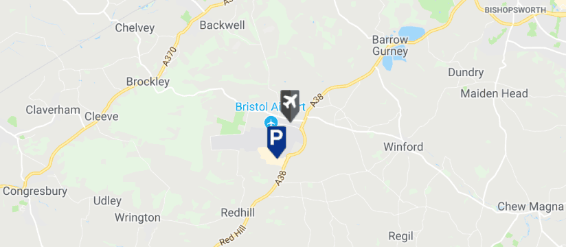 Bristol Airport Silver Zone Parking, Bristol Airport map
