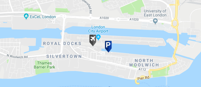 Butterfly Business Meet & Greet Parking, London City Airport map