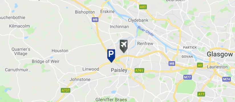 Direct Parking Ltd, Glasgow International Airport map