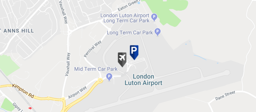 Drivefly Meet & Greet Parking , Luton Airport map
